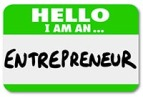 Entrepreneur Name Tag Business Owner Self Employed Your Own Boss